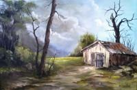Vidéki nyugalom,40x60cm,olaj-vászon